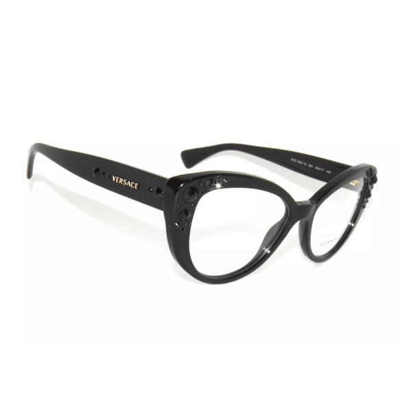07d4d212188 Versace Eyeglasses 3221 Black and Gold Frame. M 5ac2e2092ae12f581296d5eb.  Other Accessories ...